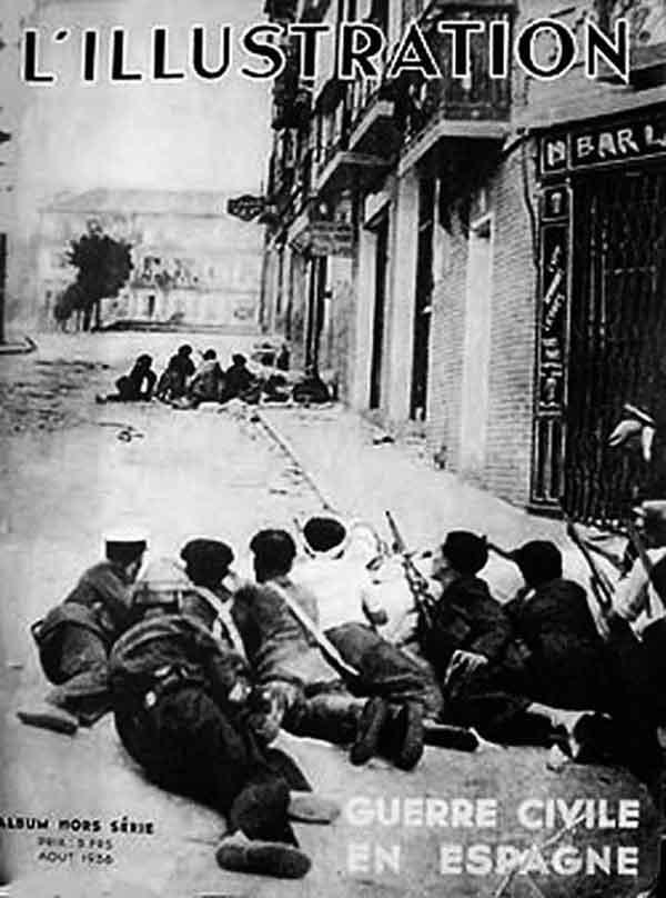 Barricada en la calle Armas a la altura del bar Zorba