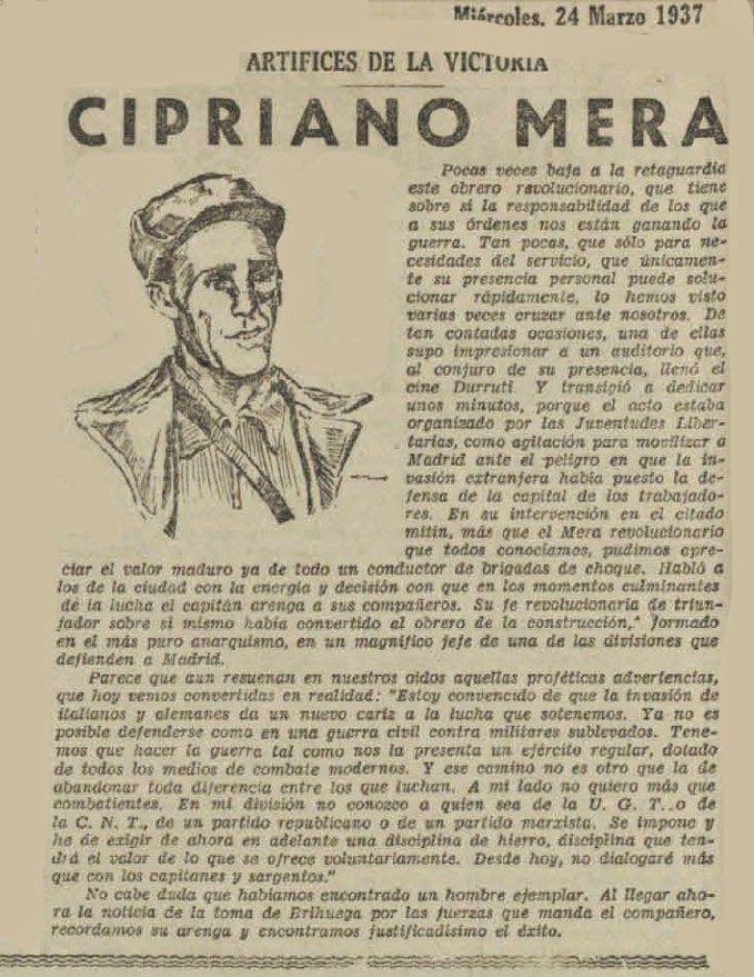 Artículo sobre Cipriano Mera