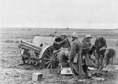 Artillería italiana en Guadalajara