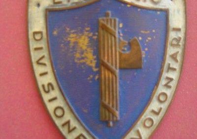 Emblema de metal para brazo de la division Littorio