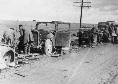 Vehículos italianos abandonados