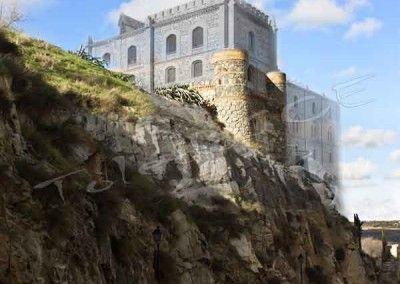 Alcázar de Toledo. Reconstrucción de Santiago