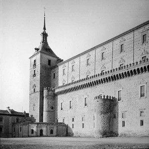 Alcazar fachada este antes asedio alcazar de Toledo