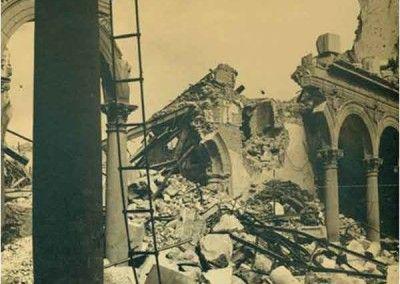 Interior NO del Alcázar de Toledo después del asedio 2