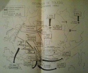 Plano ataque final al Alcázar de Toledo