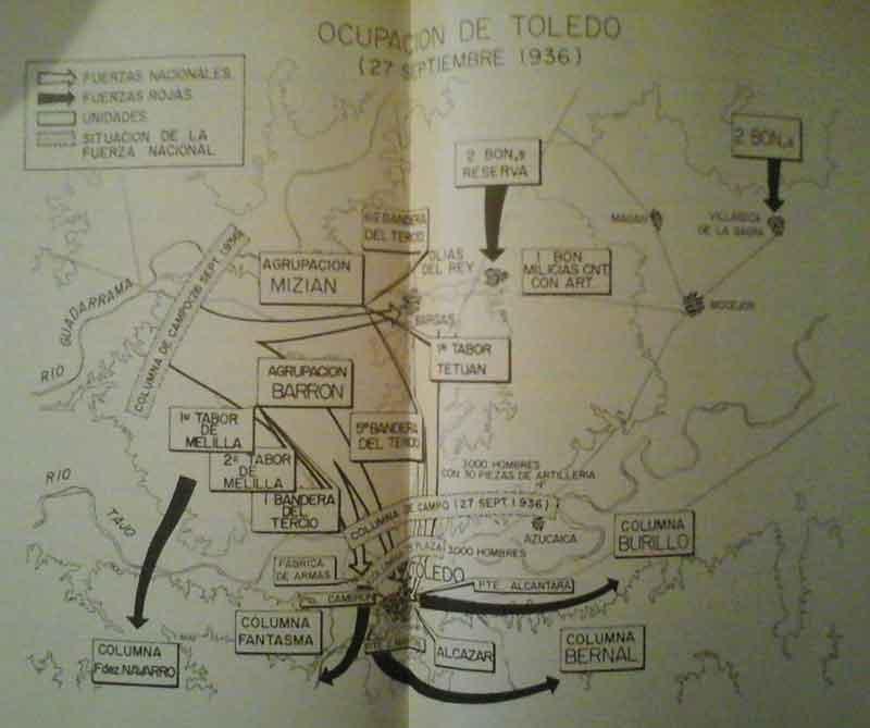Ataque a Toledo de las fuerzas nacionales para liberar el Alcázar