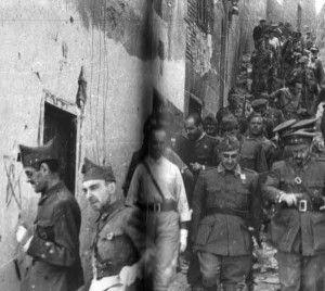 Franco, Varela y Moscardó salen del Alcázar recién liberado
