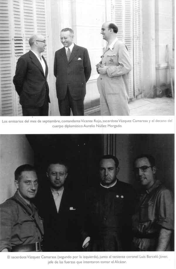 Vicente Rojo, Vázquez Camarasa, Luis Barceló en el asedio al Alcázar de Toledo