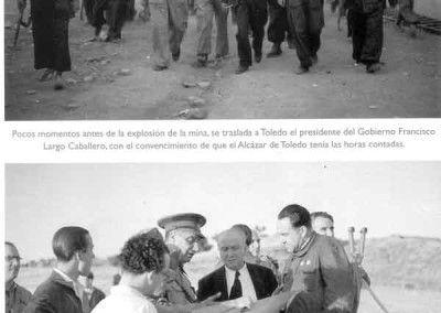 Largo Caballero y Asensio Torrado en el asedio al Alcazar de Toledo