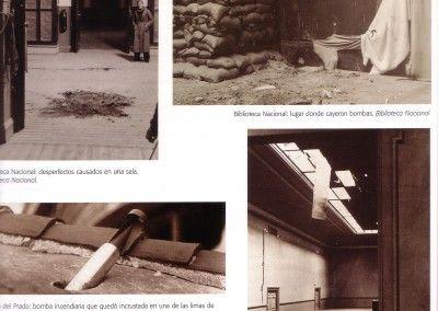 Biblioteca Nacional y Museo El Prado bombardeados