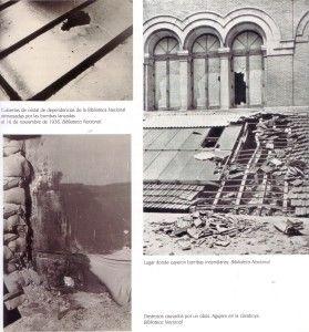 BBiblioteca Nacional de Madrid. Efectos de las bombas