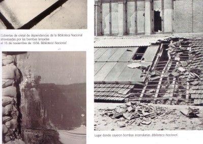 Biblioteca Nacional de Madrid. Efectos de las bombas