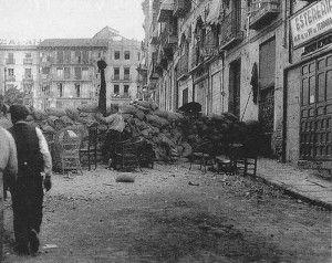 Barricadas 3 calle Armas hostal-Asedio Alcazar de Toledo