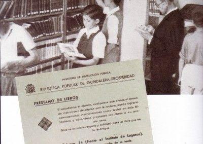 Biblioteca Prosperidad. Barrio Guindalera 1938