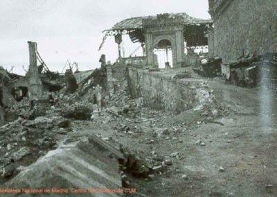 Alcázar de Toledo. Comedores y Capuchinos después del asedio