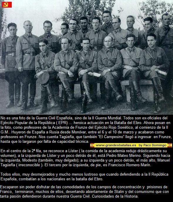 Oficiales republicanos en Rusia FRUNZE