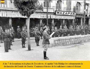 Lectura bando guerra zocodover-Asedio Alcazar de Toledo