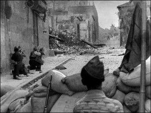 Milicianos Arco de la Sangre-Asedio Alcazar de Toledo