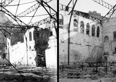 Alcázar de Toledo. Picadero después del asedio