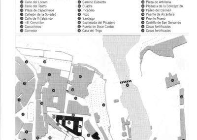 Plano del Alcázar de Toledo 2