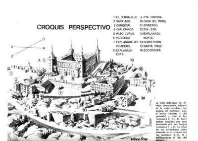 Plano del Alcázar de Toledo