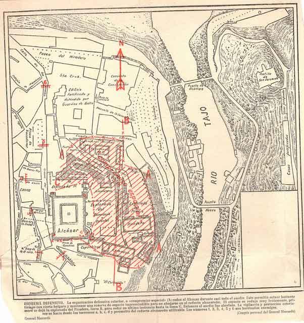 Plano dependencias del Alcázar de Toledo 2