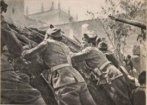 Republicanos cuesta del Carmen-Asedio Alcazar de Toledo