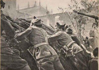 Soldados republicanos en la Cuesta del Carmen