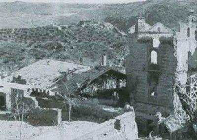 Alcázar de Toledo. Santiago y Picadero después del asedio