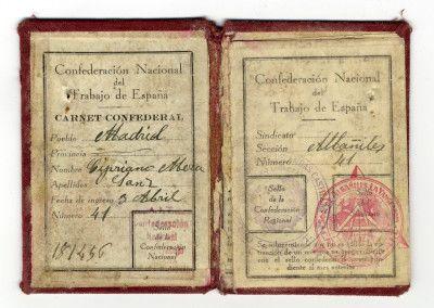 Carnet de la CNT de Cipriano Mera