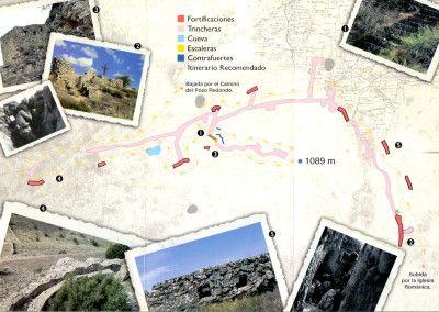 """Plano y ruta para visitar la posición """"El Castillo"""""""