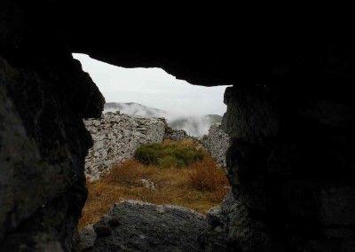 Posición nacional en Cebollera Nueva.Vista desde Fortín