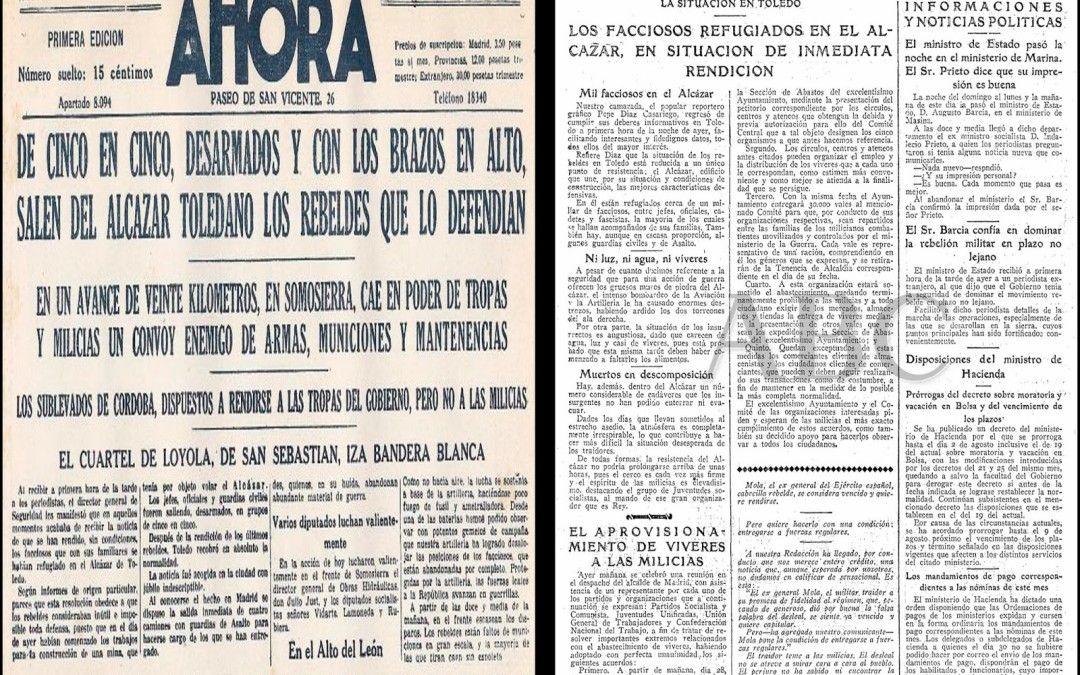 ABC de Madrid y AHORA informan de la rendición