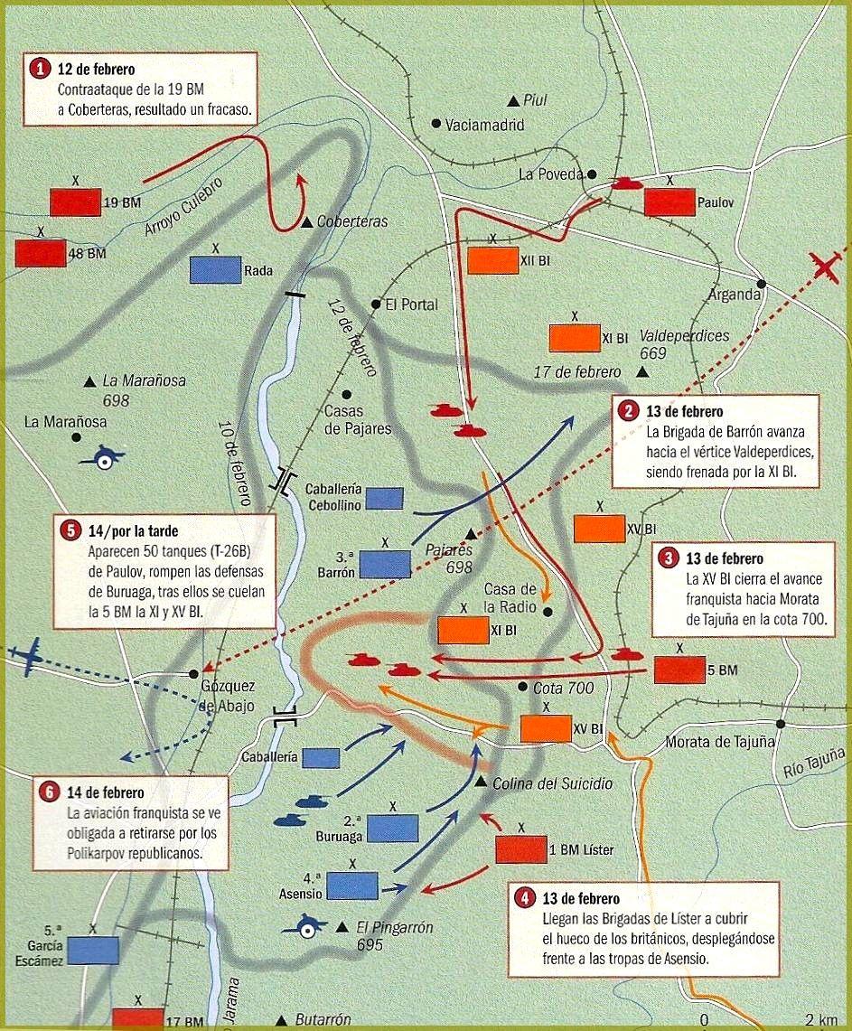 Fase de la Batalla del Jarama, 12-14 feb 1936