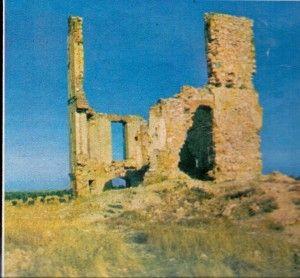 Estado en que quedó la Casa de la Radio después de la Batalla del Jarama