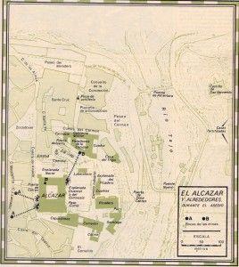 El Alcázar y alrededores durante el asedio