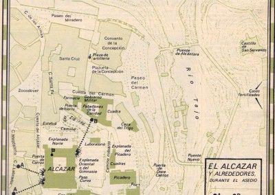 Plano del Alcázar y sus alrededores