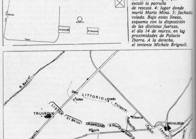 Esquema del palacio de Ibarra. Disposición de combate