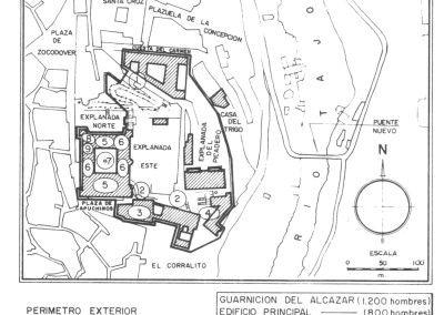 Distribución de la guarnición del Alcázar