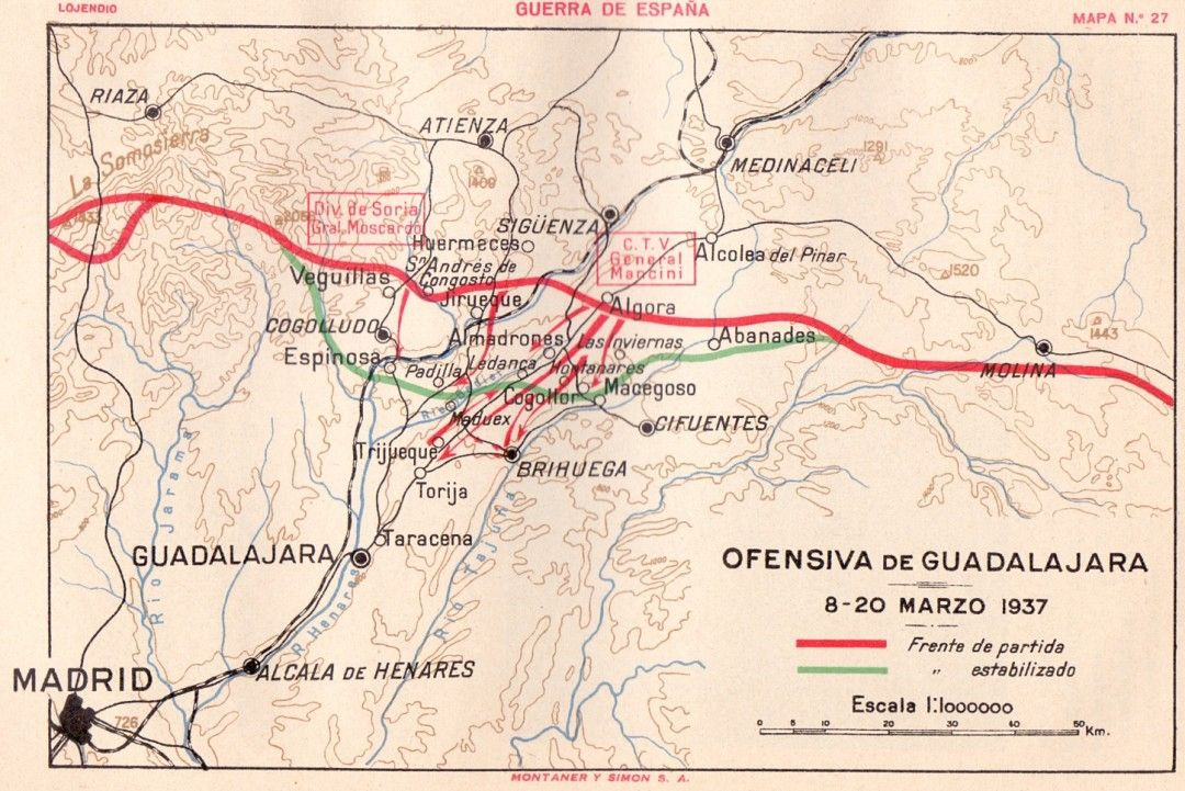 Ofensiva de Guadalajara, Marzo de 1937