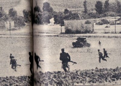 Ataque republicano con tanques T26