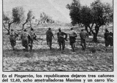 Ataque republicano entre olivares