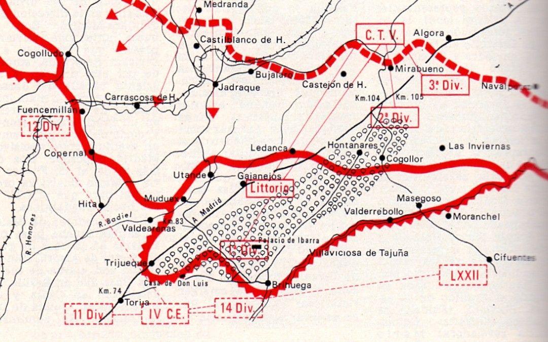 Escenario de la Batalla de Guadalajara.