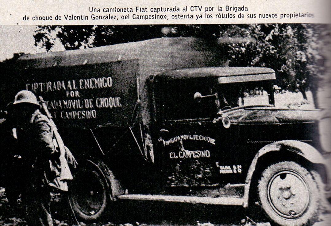 camioneta Fiat del CTV capturada por los republicanos