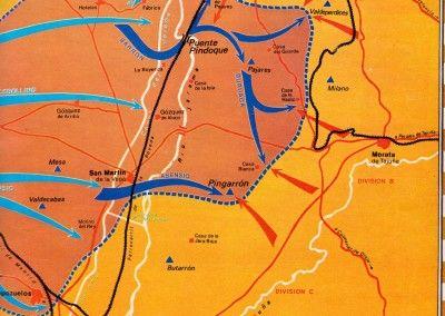 Mapa fases de la Batalla del Jarama