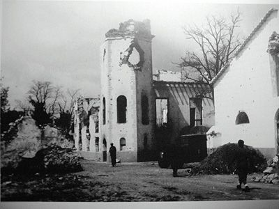 Palacio de Ibarra, después de la batalla de marzo de 1937