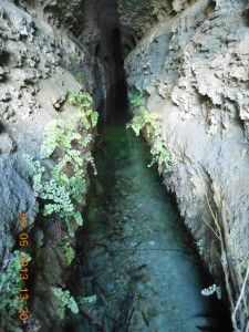 Acceso a cueva. Línea defensiva republicana Titulcia-Aranjuez
