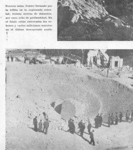 Cráter de una mina con rehenes enterrados en su interior