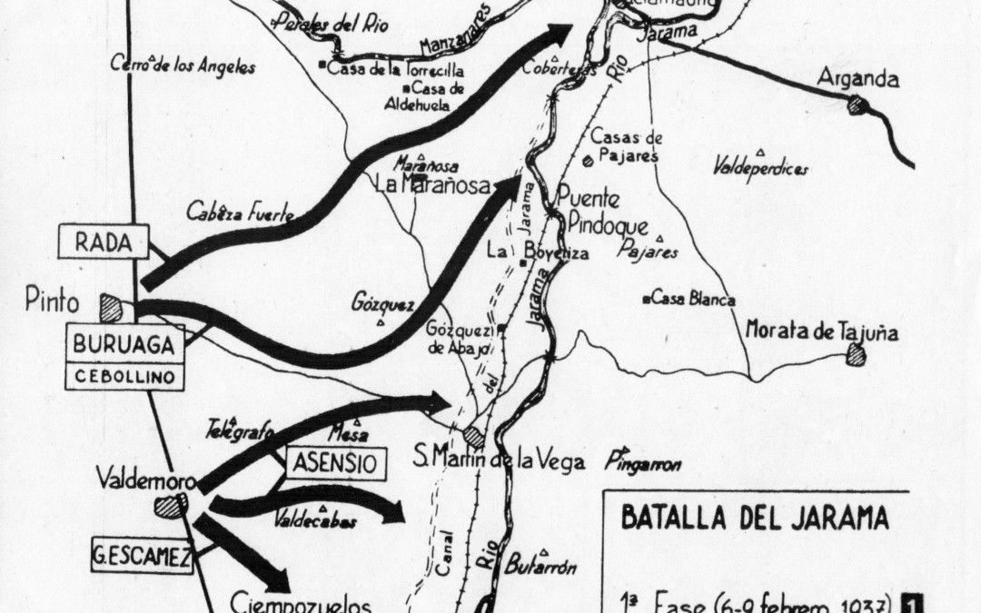 Batalla del Jarama. 1ª Fase
