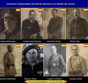 Mandos nacionales en la Batalla del Jarama